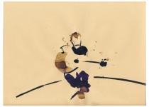2009 BATO_Moreno Vigione,china, ecolina e caffè su carta cm 23x35 Blow, San Lorenzo