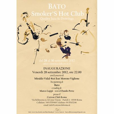 Locandina 28 settembre 2012 Miraldo Vidal 4tet Cotton Club