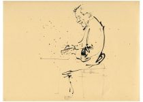 2012 12 03 Alessandro Cuccaro, tecnica mista su carta cm 32x33, Roma, Hot Jazz Caffè