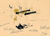 Bato, Manouche, tecnica ista su carta cm 23x33. Roma, Music Inn 15/12/2011