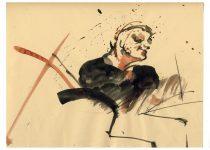Bato, Marco Valri solo, tecnica mista su carta cm 23x35. Roma, Smoker's Hot Club 2007
