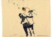 Bato, Giovanni Amato, tecnica mista su carta cm cm 23x35 ca. Potenza, international Jazz Festival 28/06/2013