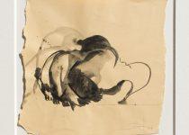 Bato, Gorilla feroce, tecnica mista su tela, cm 18x18