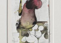 Bato, Carnivora studio, tecnica mista su tela, cm 22x16