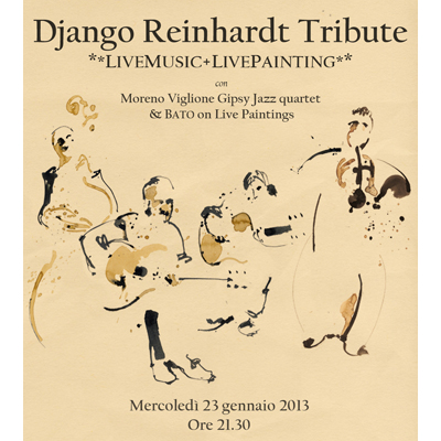 Django Reinhardt Tribute – art performance