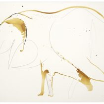 Bato, Elefante bianco Thai, cm 150x200, tecnica mista su tela