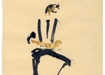 2012 09 28 BATO_Andrea Tardioli prende nota, tecnica mista su carta, cm 23x33_Roma, Cotton Club,