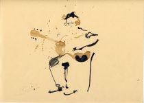 Bato, Alessandro Russo, tecnica mista su carta, cm 23x35. Artena 23/06/2012