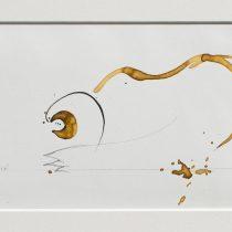 Bato, Agguato Tigre, tecnica mista su tela, cm 12,5x21