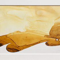 Bato, Tempesta sul Nilo, tecnica mista su tela, cm 18x20