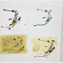Bato, Coccodrilli, tecnica mista su tela cm 97x147