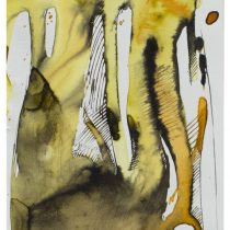 Bato, Radici Banian, tecnica mista su tela, cm 14x26
