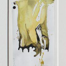 Bato, Radici di Banian II, tecnica mista su tela, cm 25x14