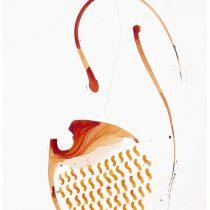 2019 Bato Leone dalla barba bianca tecnica mista su tela cm 96x159